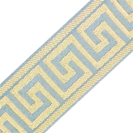 Accent Greek Key Tape, Pale Blue/Antique