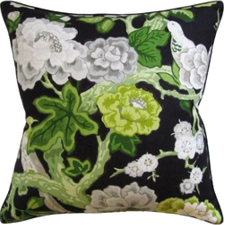 Grey Blossoms Pillow
