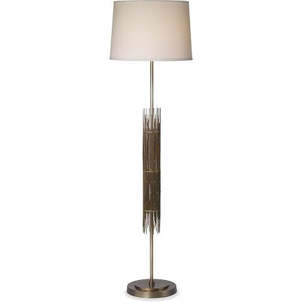 Hailey Floor Lamp - Art Deco floor lamp finished in aged brass.
