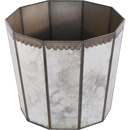 Antique Hexagonal Wastebasket