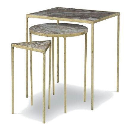 Julio Nesting Table - 3 Nesting Tables with Granite tops