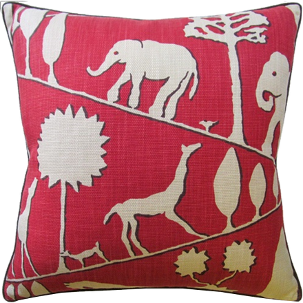 Jungle Walk Pillow (other colors available)