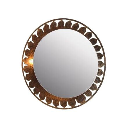 Loon Mirror - Antique Gold