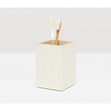 Snow Manchester Faux Shagreen Brush Holder.