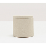 Ivory Manchester Faux Shagreen Canister.