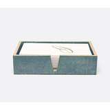 Turquoise Manchester Hand Towel Tray Bath Accessory
