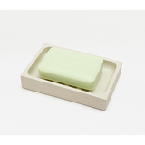 Ivory Manchester Faux Shagreen Soap Dish.