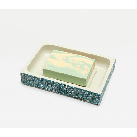 Turquoise Manchester Soap Dish Bath Accessory