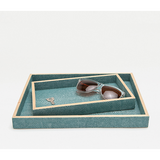 Turquoise Manchester Tray Set Bath Accessory