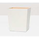 Snow Manchester Faux Shagreen Rectangular Wastebasket.