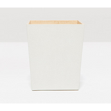 Snow Manchester Faux Shagreen Square Wastebasket.