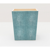 Turquoise Manchester Square Wastebasket Bath Accessory