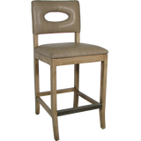 Medford Upholstered Counter Stool - Leather