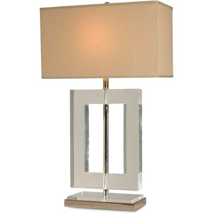 Oslo Table Lamp - Striking Hollow Square Lucite Lamp