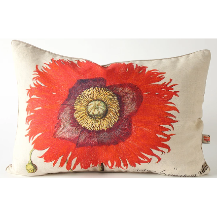 Pink Poppy Pillow