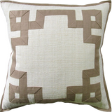 Raffia with Fretwork Pillow (other colors available)
