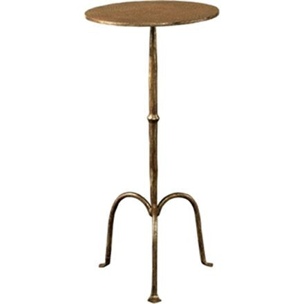 Ruislip Side Table -  Has Delicate Lines and a Sturdy Hammered Verona Gold Finish.