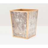 Atwater square wastebasket in antique gold