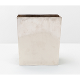 Shiny Nickel Redon Rectangular Wastebasket.