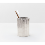 Shiny Nickel Redon Brush Holder.