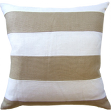 Slubby Linen Striped Pillow (other colors available)