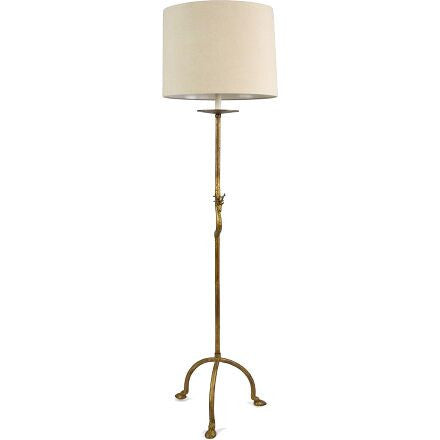 Stag Floor Lamp - Antiqued Gold