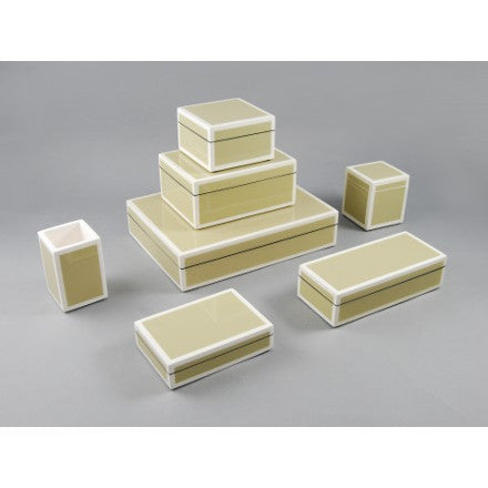 Taupe with White Trim Lacquer Box Collection