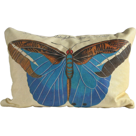 Turquoise Butterfly Pillow