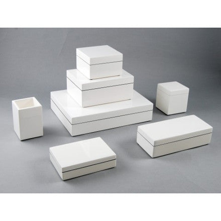 White Lacquer Box Collection