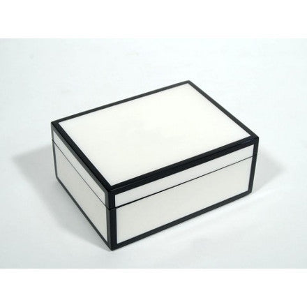 White with Black Trim Lacquer Box Collection