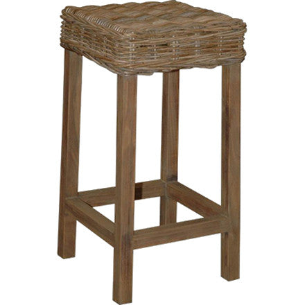 "This bar stool is made from wicker with hardwood legs. 16½""W x 16½""D x 31""H"