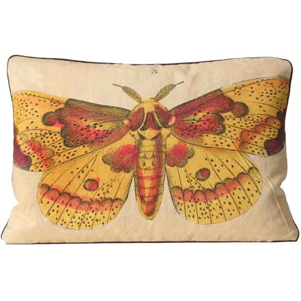 Yellow Moth Pillow