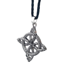 Load image into Gallery viewer, GUNGNEER Celtic Knot Floral Pendant Necklace Stainless Steel Amulet Jewelry Men Women