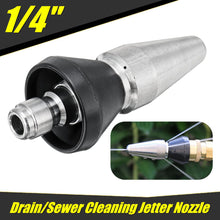 Load image into Gallery viewer, 2TRIDENTS Stainless Steel Sewer Jet Nozzle Pressure Washer Nozzle - 1/4'' 1 Front 3 Rear - Various Cleaning Applications