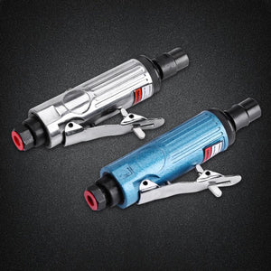 "2TRIDENTS 1/4""BSP Cut Off Cutting Air Pneumatic Angle Die Grinder Polisher Grinding Cleaning Tools for Glass, Stone, Handicrafts, Jewelry (Blue)"