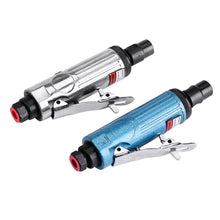 "Load image into Gallery viewer, 2TRIDENTS 1/4""BSP Cut Off Cutting Air Pneumatic Angle Die Grinder Polisher Grinding Cleaning Tools for Glass, Stone, Handicrafts, Jewelry (Blue)"