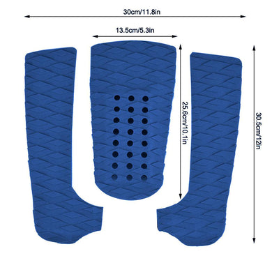 2TRIDENTS 1 Set Anti Slip Surfboard Traction Pads - EVA Foam Deck Pad Grip - Great Accessory for The Surfboard (Blue)