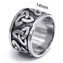 Load image into Gallery viewer, GUNGNEER Stainless Steel Black Celtic Knot Ring Band Jewelry Accessories Men Women