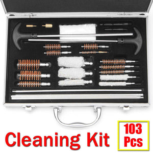 2TRIDENTS 103 Pcs Universal Gun Cleaning Kit All-in-one Keep Your Guns Performing at Their Best