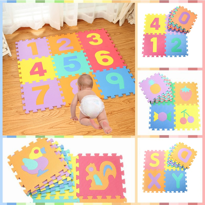 2TRIDENTS EVA Foam Baby Puzzle Play Mat Children Games Flooring Carpet Mats Education Crawling Exercise Pad (30x30cm, Alphabet)
