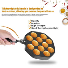 Load image into Gallery viewer, 2TRIDENTS Non Stick Pancake Ball Pan Takoyaki Pan with 12 Molds for Grilling Desert Making Baking Takoyaki Sandwiches