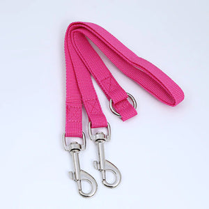 2TRIDENTS Double Dog Leashes - Strong Nylon V Shape - Two Dog Adjustable Length Dog Lead for Jogging (Black)