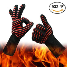Load image into Gallery viewer, 2TRIDENTS Extreme Heat Resistant Cooking Gloves - Non Slip Cooking Gloves - Ideal Cooking Accessory for Kitchen (A)