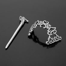 Load image into Gallery viewer, GUNGNEER Celtic Knot Irish Trinity Pin Stainless Steel Hair Stick Accessories Jewelry'