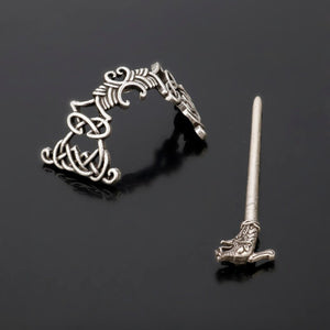 GUNGNEER Celtic Knot Irish Trinity Pin Stainless Steel Hair Stick Accessories Jewelry'