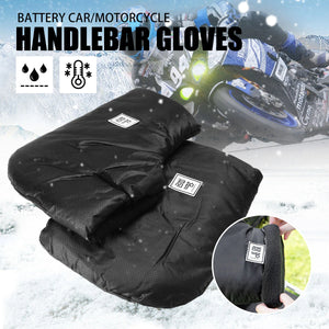 2TRIDENTS Motorbike/Scooter Handlebar Grip Muffs - Keep Your Hands and Arms Warm and Dry - Best Choice for Driving Your Motorcycles in Winter (Black)