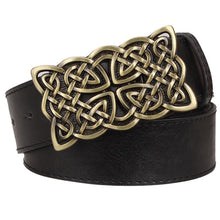 Load image into Gallery viewer, GUNGNEER Celtic Irish Knot Leather Bucket Belt Accessories for Men Women
