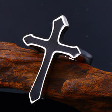 Load image into Gallery viewer, GUNGNEER Stainless Steel Cross Jesus Ring Protection Jewelry Accessory For Men Women
