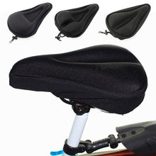 Load image into Gallery viewer, 2TRIDENTS 2Pcs Bike Saddle Foam Cover Seat Improved Comfortable Breathable Anti-Slip for Road Bike Outdoor (Black)