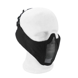 2TRIDENTS Metal Steel Net Mesh Mask - Half Face Mask for Hunting, Outdoor Sport, Cycling, Motorcycling, ATV, Jet Skiing, Airsoft, Paintball, CS and More (01)